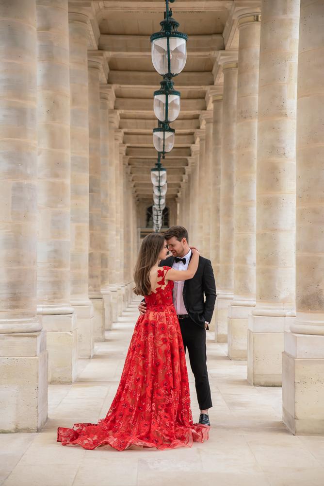Winter wedding photoshoot in Paris by Pierre 44