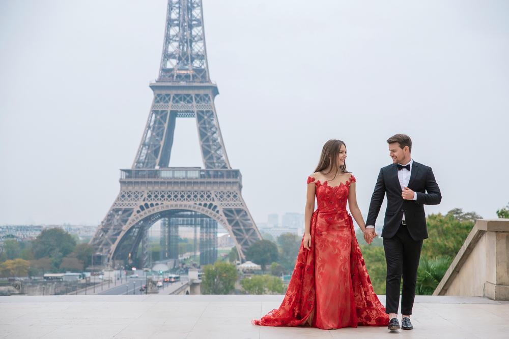 Winter wedding photoshoot in Paris by Pierre 9