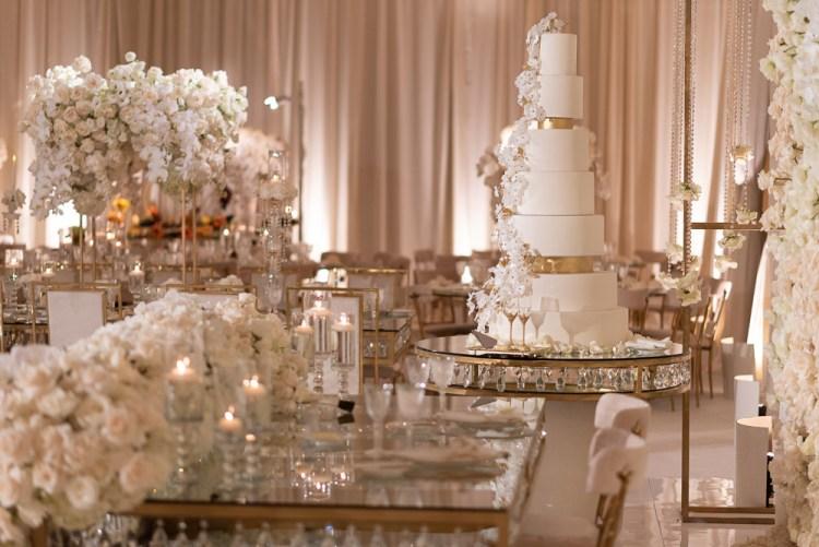 Luxury wedding cake at the Montage Laguna Beach captured by The Paris Photographer Fran Boloni