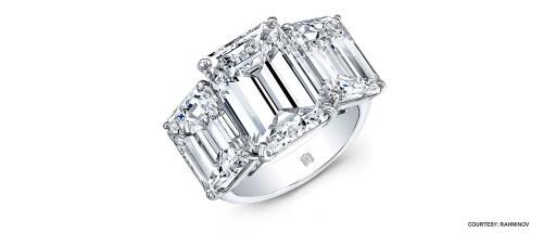 Too big engagement ring - huge diamong