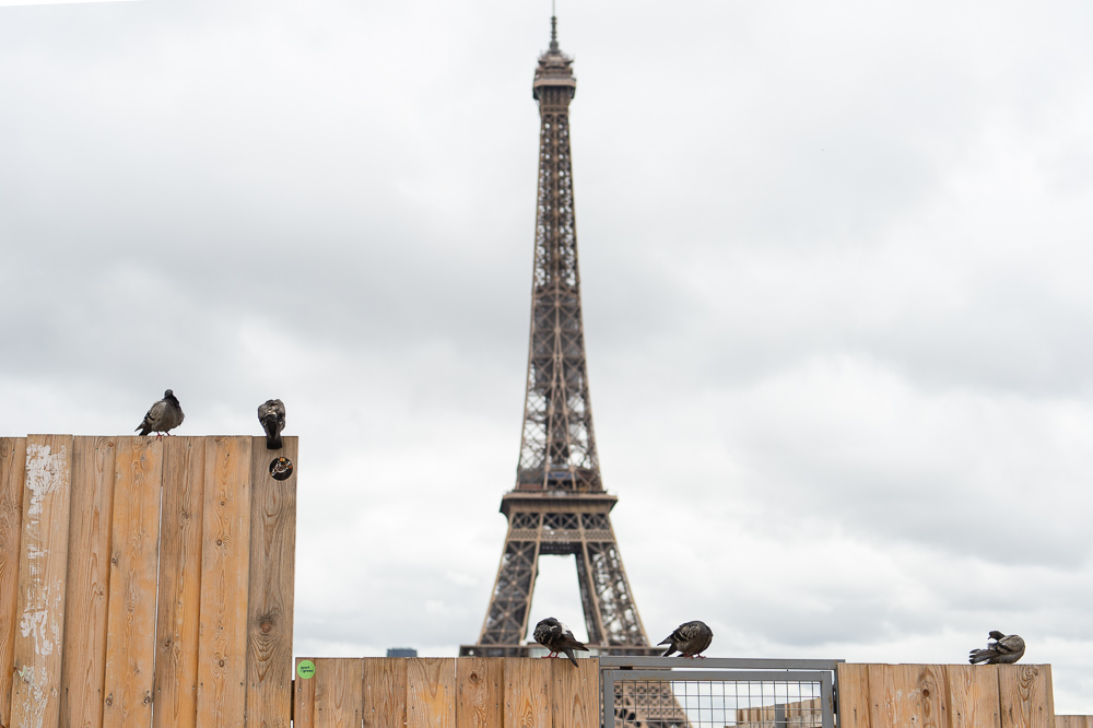 Trocadero palace in 2021 under renovation works