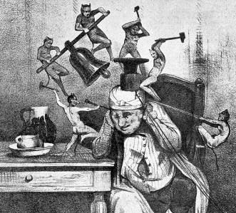 la migraine par Daumier