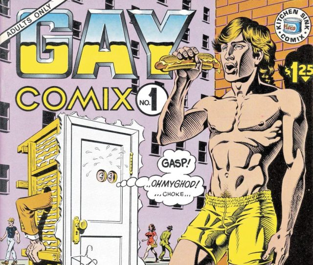 Gay Comix No 1 Ed Howard Cruse Cover By Rand Holmes 1980