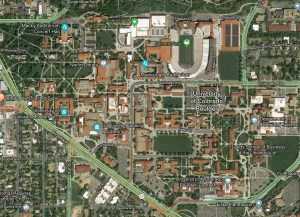 Satellite photo of University of Colorado - Boulder