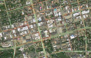 Satellite Photo of Downtown Boulder