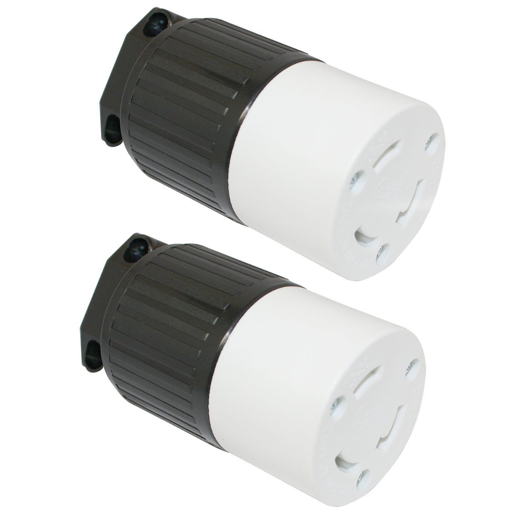 2 L6 30r Plug Receptacles 250v 30a Nema Twist Locking Plug