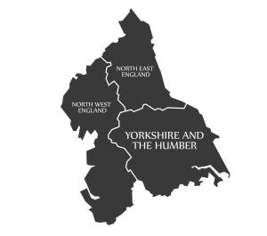Map of the north of England