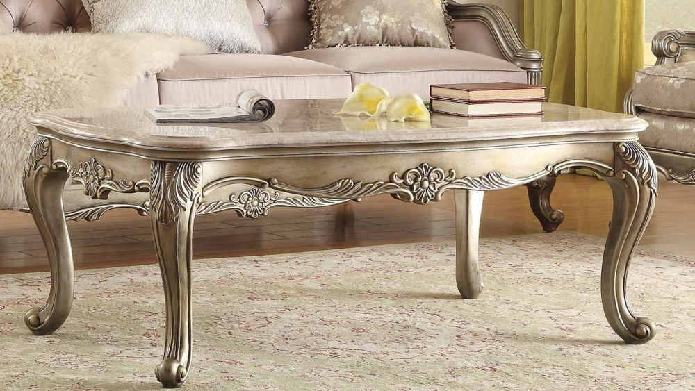 silver gold coffee table