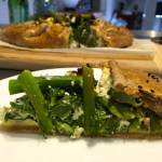 Broccolini, Pea and Feta Spelt Freeform Pie (with Olive Oil Pastry)
