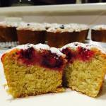 Raspberry, Lemon and Coconut Friands (nut free)