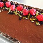 No Bake Chocolate Tart (vegan, gluten free, nut free, refined sugar free, Paleo friendly)