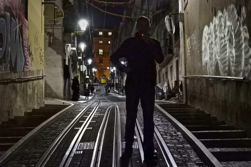 Today's Street Photograph: Smoking Man – Lisbon, Portugal
