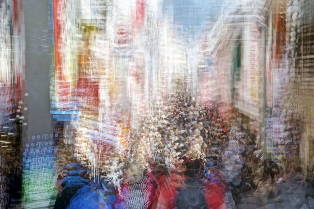 Multiple Exposures Capture Tokyo's Frenetic Energy