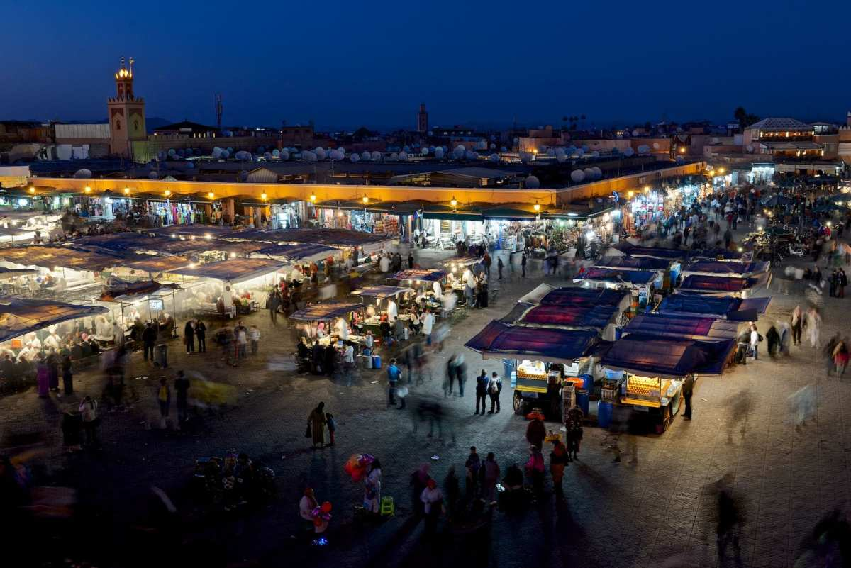The market in Marakech exposed for 1.16 seconds, f8 - D600, 24-70mm f2.8 lens with Long Exposure Noise reduction enabled.