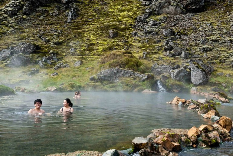 LLandmannalaugar hot springs in Iceland