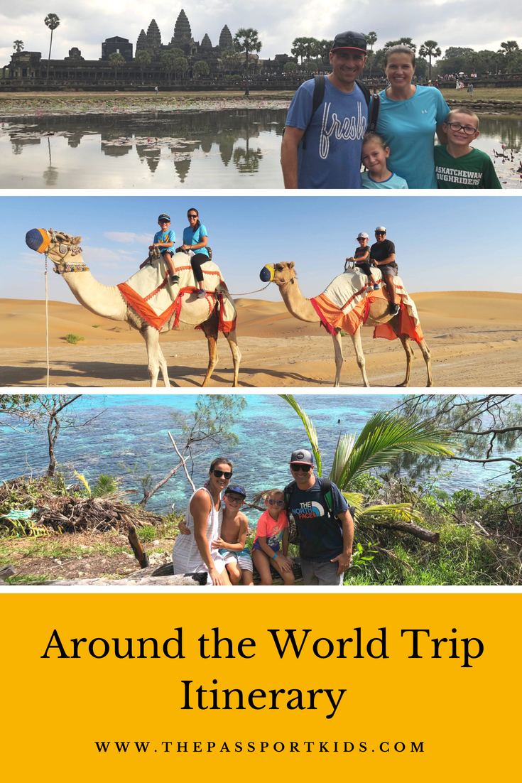 Around the World Trip Itinerary