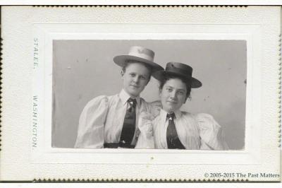 Carolyn Belle Bryant and Mary McCoy in May 1895