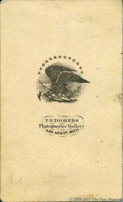"Hattie A. Thompson and Frances L. ""Fannie"" (Thompson) Mayhew taken about 1862"