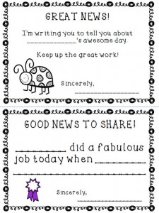 Sizzling image regarding printable positive notes home for parents