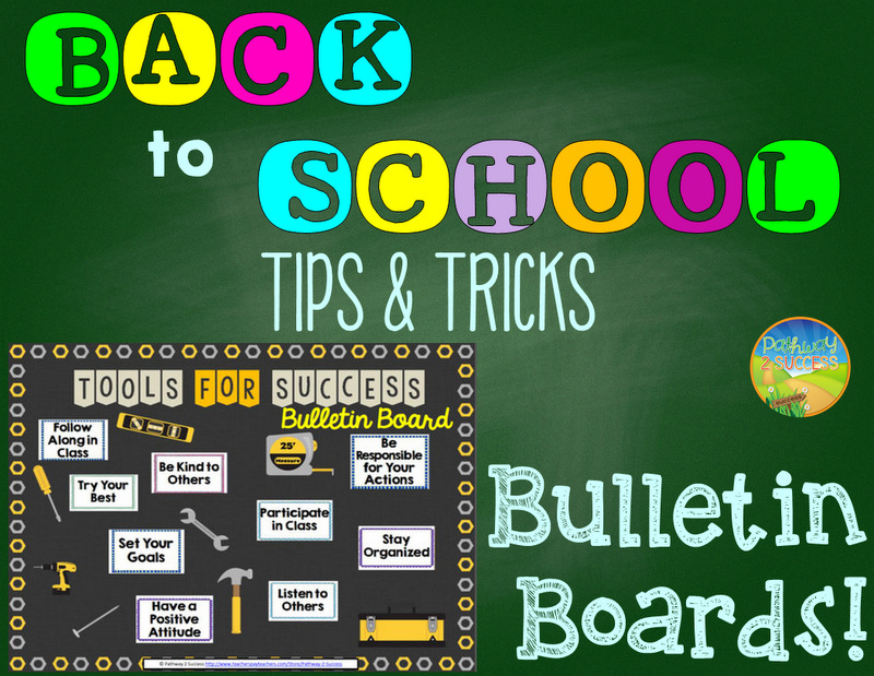 Back to School Planning Bulletin Boards