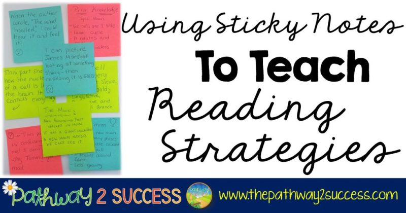 Using Sticky Notes to Teach Reading Comprehension