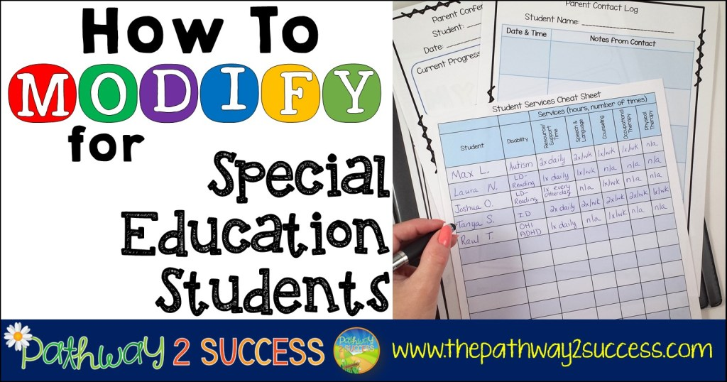 How to Modify for Special Education Students