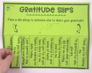 Gratitude Slips
