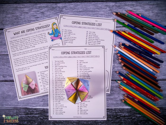 Practicing coping strategies with kids and young adults can help them learn to effective manage their anger, anxiety, and more. Use this hands-on and interactive craft to help manage stress and other tough emotions on the spot. #copingstrategies #mentalhealth #copingskills #pathway2success #anxiety