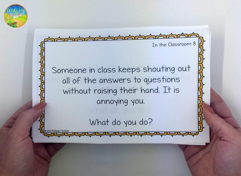 Social Scenario Problem Solving Task Cards