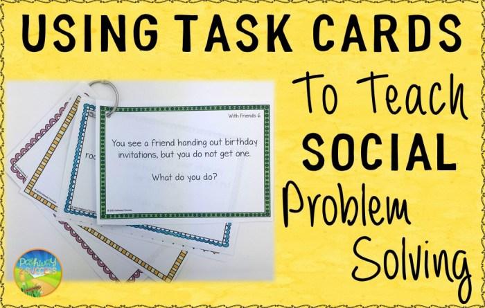 Social Scenario Problem Solving
