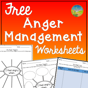 Free anger management worksheets and more to help kids and young adults with social emotional learning skills. #sel #socialemotionallearning #pathway2success