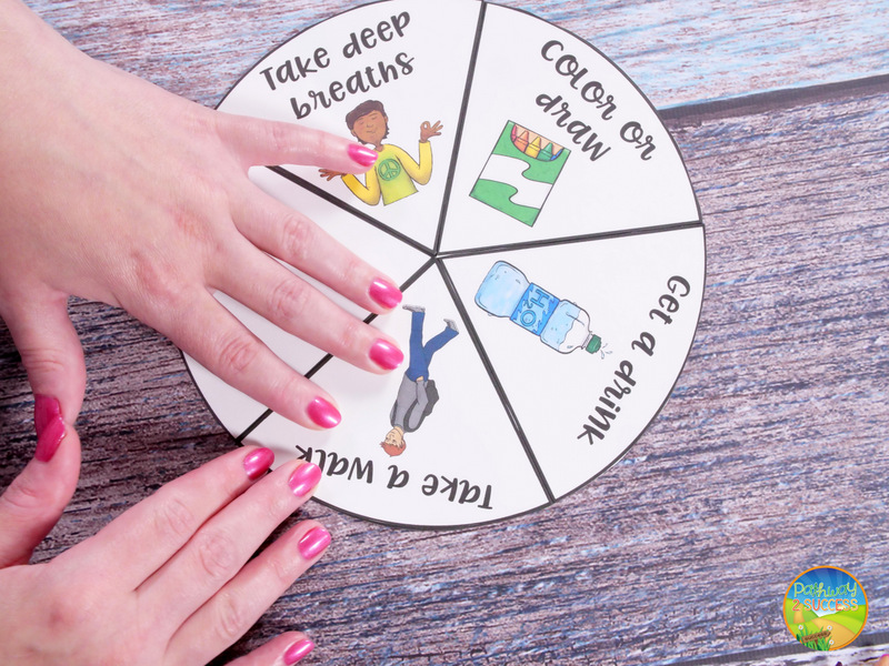 How to make a coping strategies wheel to help kids and teens learn to manage their emotions, anxiety, and anger on the spot. This is a helpful hands-on and interactive tool for people managing stress.