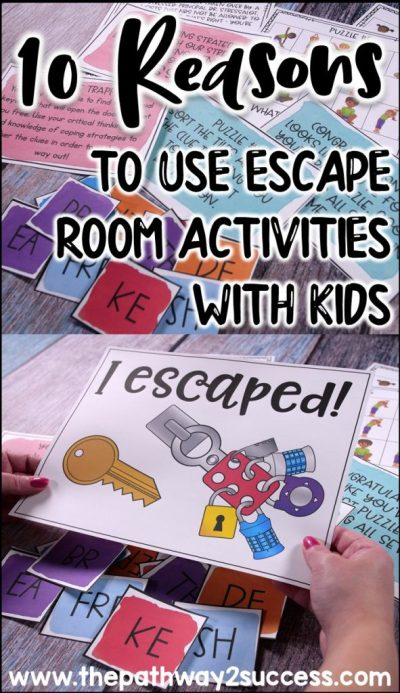 10 reasons to use escape room activities with kids and young adults!