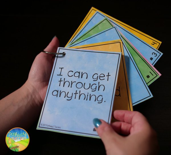 Using positive self-talk cards can help kids and young adults build self-esteem and feel good about themselves as individuals.