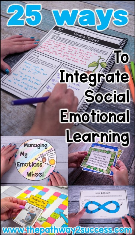 25 Ways to Integrate Social Emotional Learning Blog Post with Ideas and Free Resources!