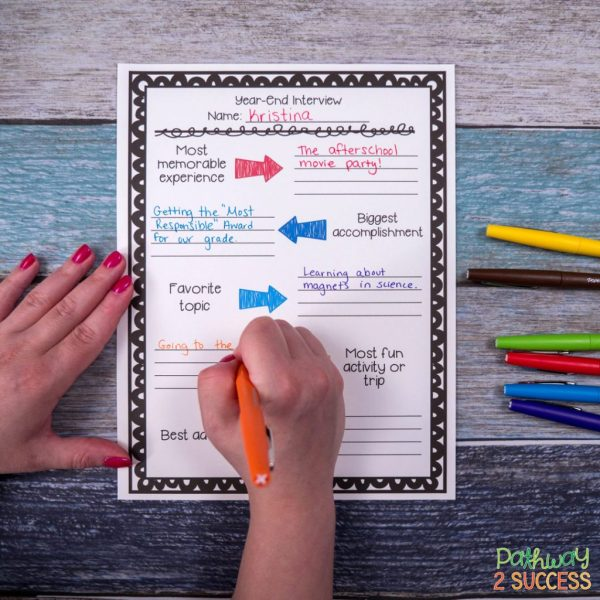 End of the year activities, reflections, and ideas for teachers to try in the classroom! This blog post includes ideas you can implement right away and some freebies!