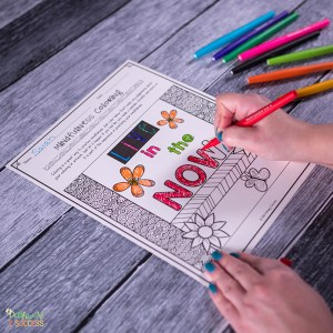 Free mindfulness coloring pages and more to help kids and young adults with social emotional learning skills. #sel #socialemotionallearning #pathway2success