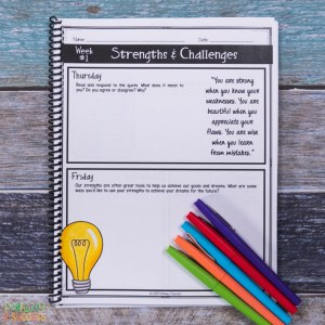 Free social emotional learning journal and more to help kids and young adults with social emotional learning skills. #sel #socialemotionallearning #pathway2success #positivethinking #journaling
