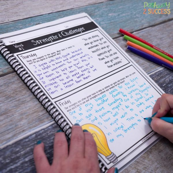 Teaching social emotional skills with a journal can benefit all kids and young adults! It's the perfect tool to teach skills on a regular basis for all learners.