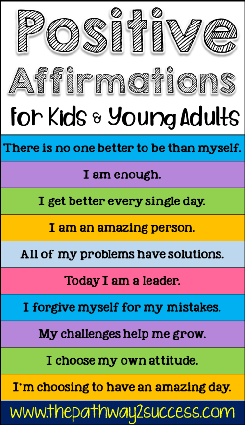 Positive Affirmations for Kids and Young Adults