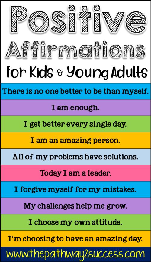 101 Positive Affirmations for Kids