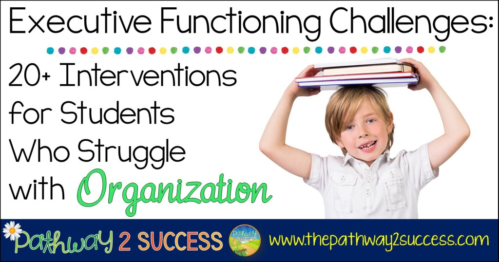 Study Kids Who Struggle With Executive >> Interventions For Executive Functioning Challenges Organization