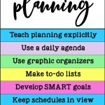 Over 20 interventions and supports for helping students who struggle with planning, a key executive functioning skill necessary for success inside and outside of school. Strategies for kids and teens include activities that can be done at school and at home. Ideal for middle or high school teens. #executivefunctioning #studyskills #pathway2success