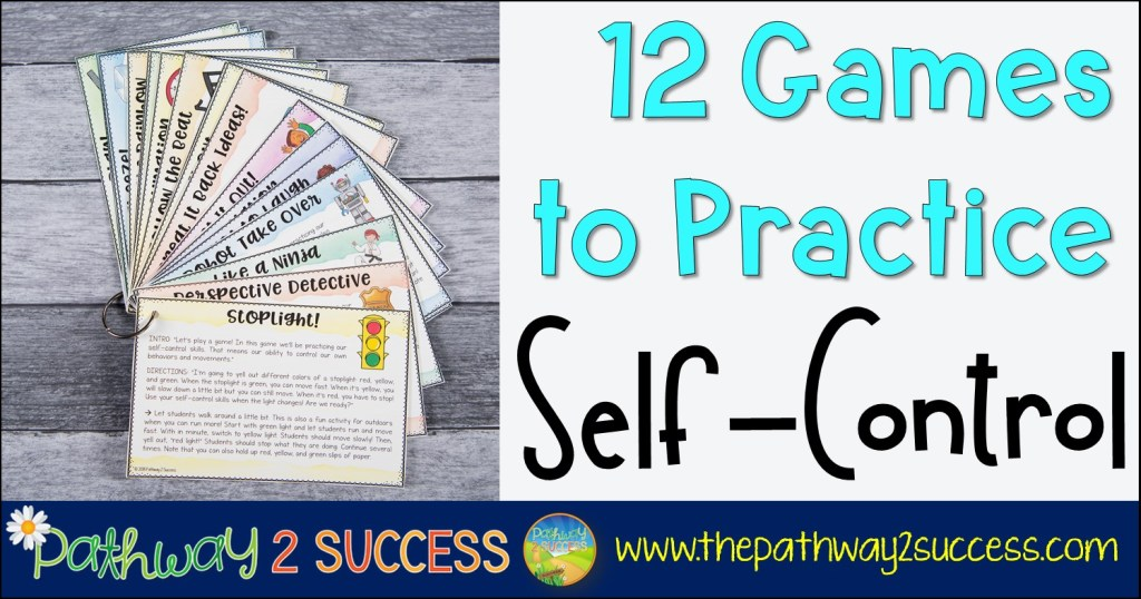 Use these games and play activities to strengthen self-control and self-regulation skills for kids and young adults. Teachers can use these games during break times or even as rewards! Games can be one of the best ways to help boost self control for teens and children.  #selfcontrol #pathway2success