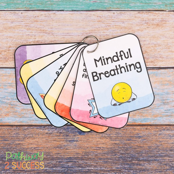 Use these mindful breathing exercises to integrate mindfulness and social emotional learning into the classroom. Mindful breathing can help kids and teens manage emotions, improve focus, and feel calm. Check out these free ideas you can use right away! #mindfulness #pathway2success