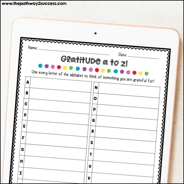 Gratitude activity