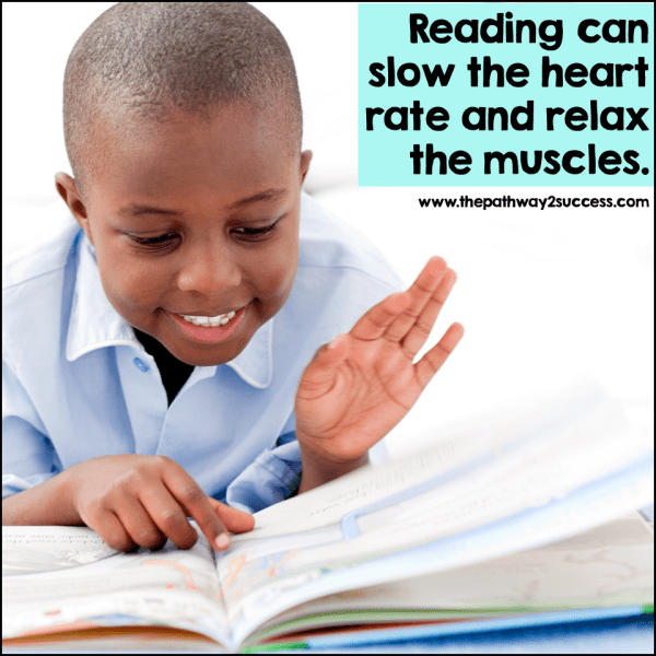 Reading for pleasure cane help learners of all ages feel cozy and calm. Help kids and teens find the right reading material for them; this can be anything from a picture book (yes, even for older learners), a magazine, or a classic chapter book they are interested in.