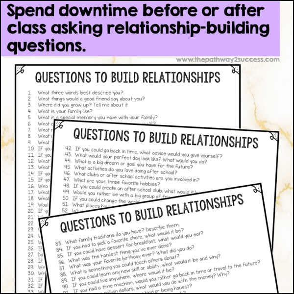 Free relationship-building questions list