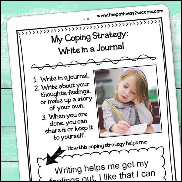 Free coping strategies notebook