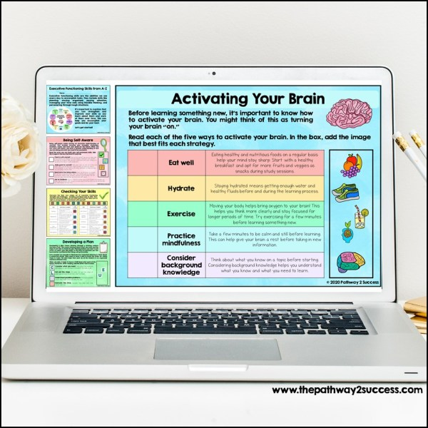 Executive Functioning Digital Workbook from A-Z